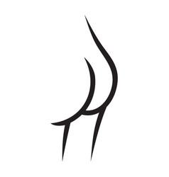 Female butt vector