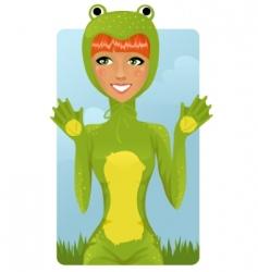 Frog costume vector