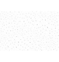 Geometric pattern with connected lines dots vector