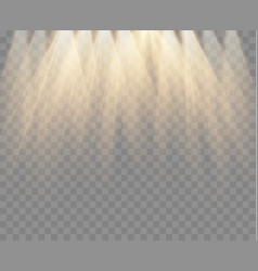 Gold spotlight isolated light vector