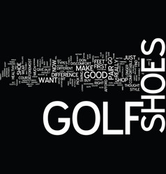 Golf shoes text background word cloud concept vector