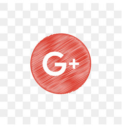 Google plus social media icon design template vector