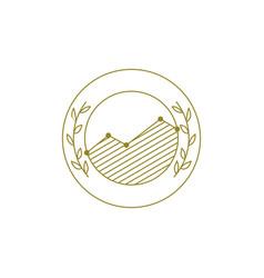 graph chart vintage traditional emblem logo icon vector image