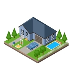 Isolated isomatic cottage vector image