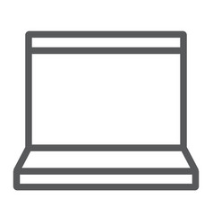 laptop line icon electronic and computer vector image
