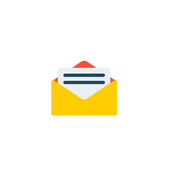 letter icon flat element of vector image