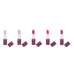lipstick set collection make up icons vector image