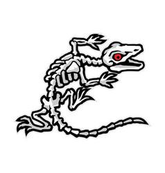 Lizard bones mascot cartoon character in vector