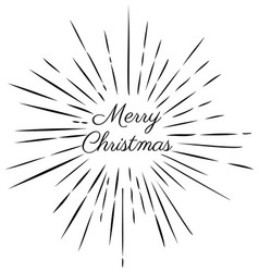 merry christmas rays vector image