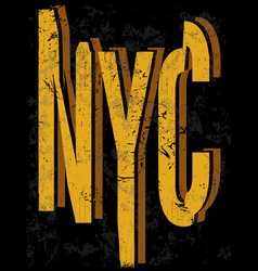 new york fashion style tee art typography design vector image