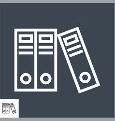 office folders thin line icon vector image