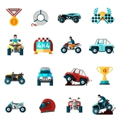 Offroad Icons Set vector