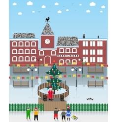 On a Christmas theme vector