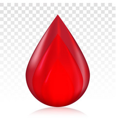 Red blood drop droplet for medical blood vector