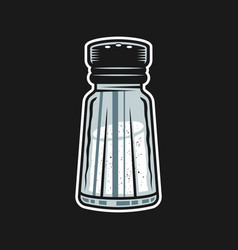 Salt shaker colored object or element vector