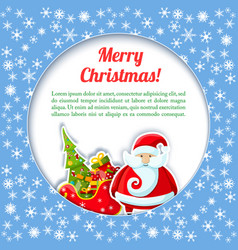 santa colored card vector image