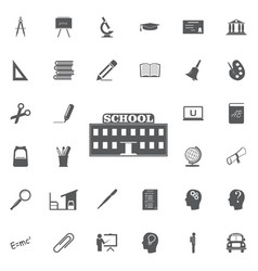 School icon professional pixel perfect icons vector