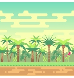 Seamless summer tropical forest nature landscape vector image