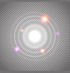 set glowing sonar waves vector image