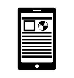 smartphone document analysis information online vector image