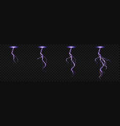 Sprite sheet with lightnings for fx animation vector
