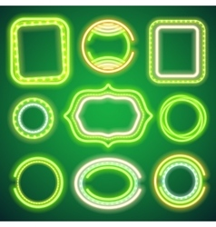 St Patricks Day Neon Banners vector image