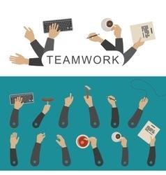 Teamwork banner vector image