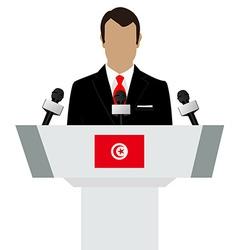 Tunisia flag speaker vector