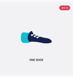Two color one shoe icon from fashion concept vector