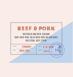 Vintage label set graphic modern label vector
