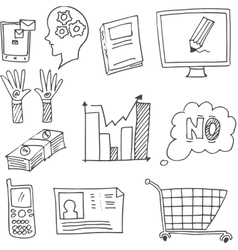 Doodle of hand draw design element business vector image vector image