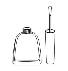 figure nails polish icon vector image