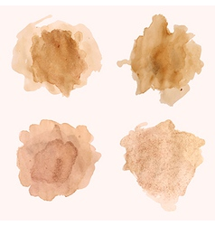 set of blots and splashes of spilled coffee vector image