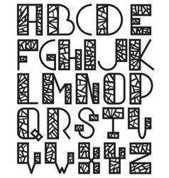 Set of mosaic alphabet vector image