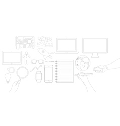 Business object flat icons design vector