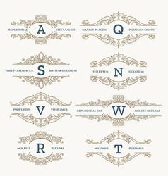 classic wedding retro logo set vector image vector image