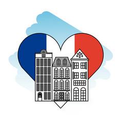 france paris architecture vector image