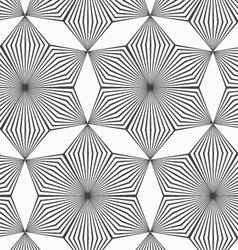 Monochrome gray striped six pedal rhombus flowers vector image vector image