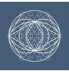 Sacred geometry symbol or element vector