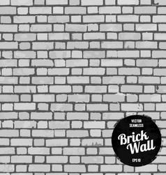 Seamless brick wall black vector image