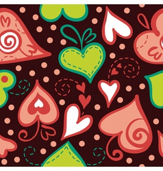 Seamless pattern with abstract hearts vector image