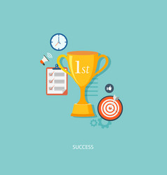 Winners award with icons vector
