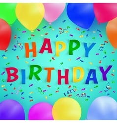 Happy birthday background with colorful balloons vector