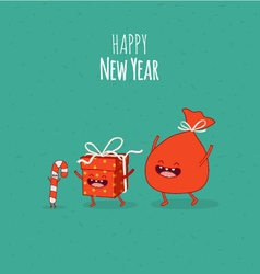 Happy NewYear card Gift vector image vector image