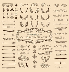 huge pack or set engraved hand drawn in old or vector image vector image
