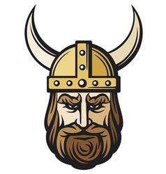 viking head vector image