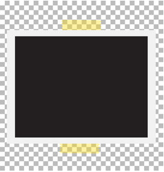 vintage photo frame with straight edges on sticky vector image