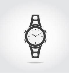 Watch Black Icon vector image vector image