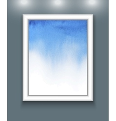 watercolor background in frame vector image