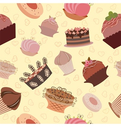 cake pattern vector image vector image